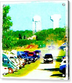 Parking Lot #android #andrography Acrylic Print