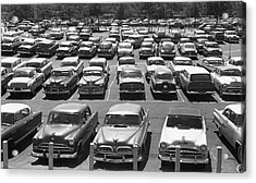 Parking Lot Full Of Cars Acrylic Print by George Marks