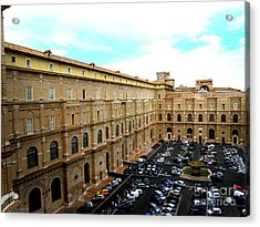 Acrylic Print featuring the photograph Parking Lot In Vatican by Tanya  Searcy