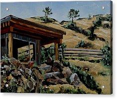 Park's Sauna Livingston  Mt Acrylic Print