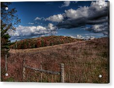 Parkway Fence Acrylic Print by Todd Hostetter
