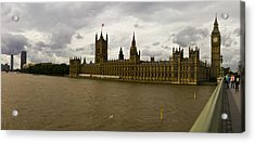 Parliment Acrylic Print by Keith Sutton