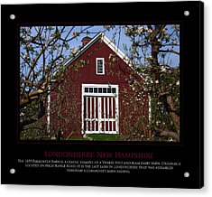 Parmenter Barn Acrylic Print by Jim McDonald Photography