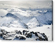 Parsenn Weissfluhgipfel View From The Summit Across The Swiss Alps Acrylic Print by Andy Smy