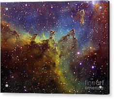 Part Of The Ic1805 Heart Nebula Acrylic Print by Filipe Alves