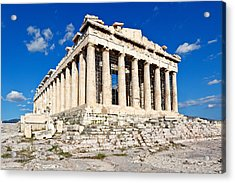 Parthenon - Greece Acrylic Print by Constantinos Iliopoulos
