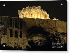Parthenon Athens Acrylic Print by Bob Christopher