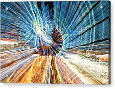 Particle Accelerator With Angel Acrylic Print
