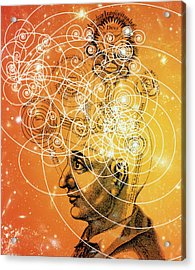 Particle Tracks And Old Cosmology Acrylic Print by Mehau Kulyk
