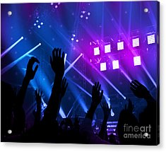 Party Background Acrylic Print by Anna Om