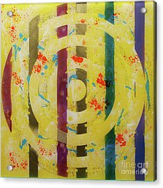 Party- Bullseye 1 Acrylic Print by Mordecai Colodner