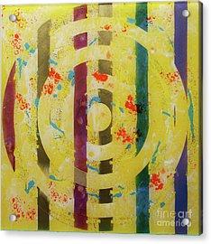 Party- Bullseye 1 Acrylic Print by Mordecai Colodner