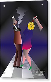 Acrylic Print featuring the digital art Party by Leo Symon