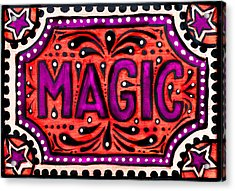 Acrylic Print featuring the painting Party Magic  by Nada Meeks