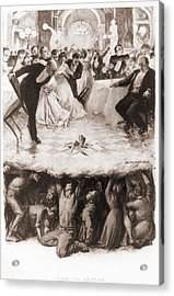 Party Of The Well-to-do Is Disrupted Acrylic Print by Everett