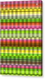 Party Stripe Acrylic Print by Louisa Knight