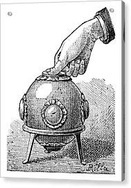 Pascal's Principle Demonstration, 1889 Acrylic Print by