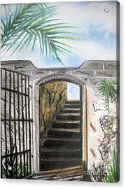 Acrylic Print featuring the pastel Passage by Judy Via-Wolff