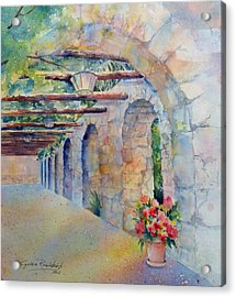 Passageway Of History At The Alamo Acrylic Print