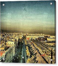 Passeig De Colom - Barcelona Acrylic Print