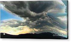 Passing Storm Acrylic Print by David Klaboe