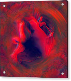 Passion Float Acrylic Print by Li   van Saathoff
