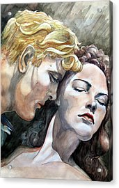 Passionate Embrace Acrylic Print by Hanne Lore Koehler