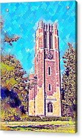Pastel Beaumont Tower 2 Acrylic Print by Paul Bartoszek