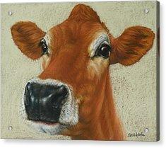 Pastel Cow Acrylic Print