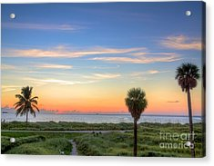 Pastel Dawn Acrylic Print by William Wetmore