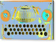 Pastel Pop Typewriter Art Acrylic Print