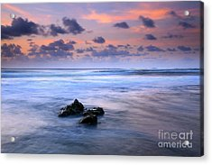 Pastel Tides Acrylic Print by Mike  Dawson