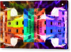 Pastel Windows Acrylic Print by Steve K