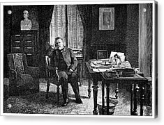 Pasteur In His Study, 19th Century Acrylic Print by