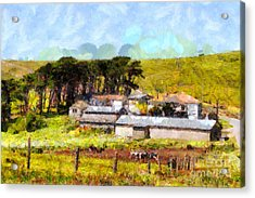 Pastoral Cattle Ranch Landscape  . 7d16047 Acrylic Print by Wingsdomain Art and Photography
