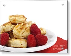 Pastries And Raspberries Acrylic Print by Blink Images