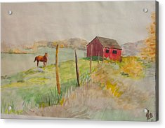 Pasture In Lagrangeville Acrylic Print
