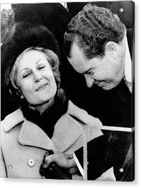 Pat Nixon Grasps Her Husbands Hand Acrylic Print by Everett