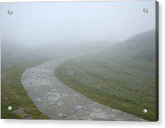 Path In The Fog Acrylic Print by Matthias Hauser