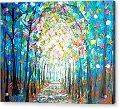 Path Through The Forest Acrylic Print