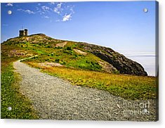 Path To Cabot Tower On Signal Hill Acrylic Print