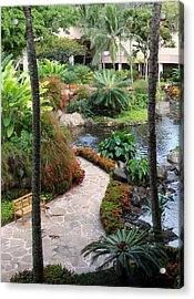 Path To Paradise Acrylic Print by Dee  Savage