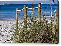 Acrylic Print featuring the photograph Path To The Beach by Susan Leggett