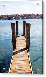 Path To The Harbor Acrylic Print by Sheryl Burns