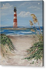 Acrylic Print featuring the painting Pathway To Morris Island by Lyn Calahorrano