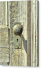 Acrylic Print featuring the photograph Patina Knob by Fran Riley