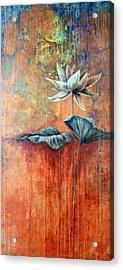 Patina Lotus Acrylic Print