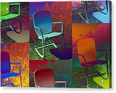 Acrylic Print featuring the photograph Patio Chair by David Pantuso