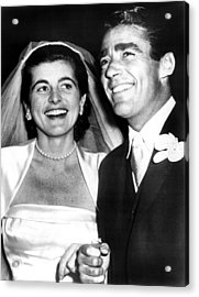 Patricia Kennedy Lawford And Husband Acrylic Print by Everett