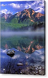 Patricia Lake Banff Canada Acrylic Print by Dave Mills
